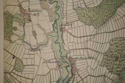 Eine historische Landkarte von Berkenthin und Umgebung